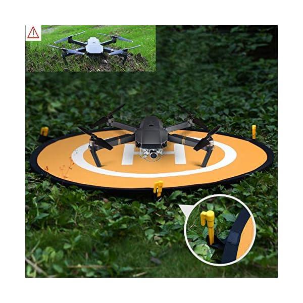 LVHERO Drone Landing Pad, Landing Pad Pieghevoli Portatili Impermeabili Universali D 55cm per Elicotteri RC Drones, Droni PVB, DJI Mavic PRO Phantom 2/3/4 / PRO, Antel Robotic, 3DR Solo 6 spesavip