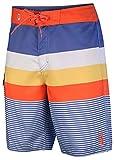 Best Van'an Mens Swimwear - Vans Men's Stripe Venice Board Shorts Orange/Blue Review