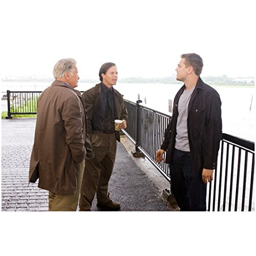 The Departed (2006) 8 inch by 10 inch PHOTOGRAPH Leonardo DiCaprio, Mark Wahlberg & Martin Sheen from Knees Up Overlooking Water kn