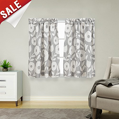 Floral Printed Tier Curtains 45