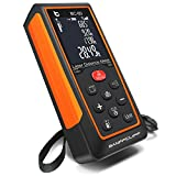 BanffCliff 196Ft 60M Laser Distance Measure M/in/Ft, Upgraded LCD Screen Electronic Bubble Level Handheld Laser Meter, Rangefinder with Pythagorean Mode, Measure Distance, Volume and Self-Calibration
