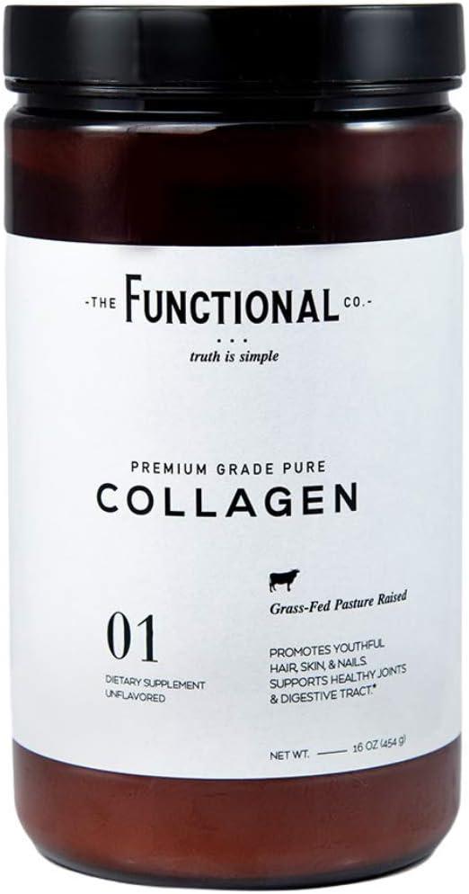 Functional Co. Premium Grade Grass-fed Non-GMO Collagen Peptides Protein Powder (16 oz.) - Unflavored