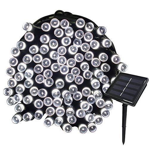Tuokay, Tuinverlichting op Zonne-energie, Kerstverlichting Buiten, Waterdichte 72ft 22m 200 LED 8 Fonkelende Modi…