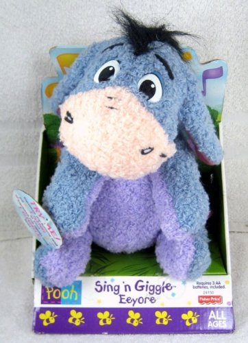 - Sing N Giggle Eeyore Stuffed Character Toy From Winne the Pooh (Squeeze My Tunny and I Sing and Giggle)