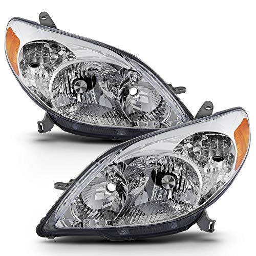 - ACANII - For 2003-2008 Toyota Matrix Headlights Headlamps Replacement 03-08 [OE Factory Style] Driver + Passenger Side