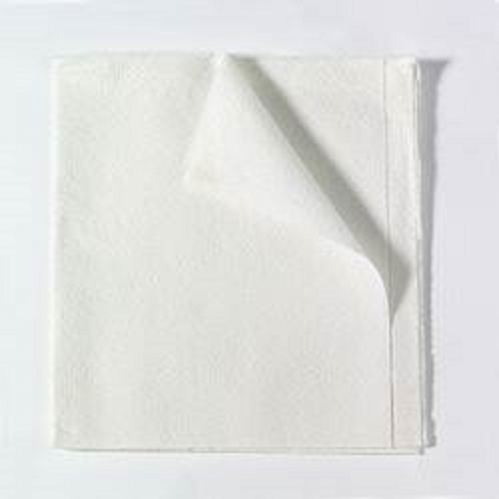 Tidi, 40''x48'' Drape Sheet, White, 2-ply tissue, 100/Cs