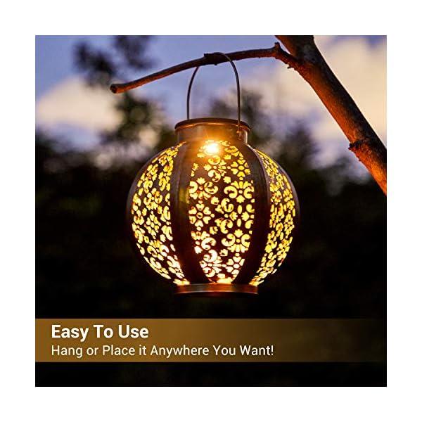 51OeWSMuTfL 2 Stück Solar Laterne für Außen,OxyLED IP44 Wasserdicht Dekorativ Solar Gartenleuchte,Solarlampe Outdoor Dekorationen…