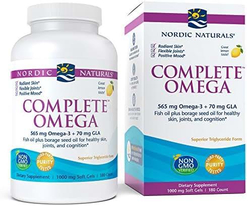 Nordic Naturals - Complete Omega, Soft Gels 180 Count, Lemon