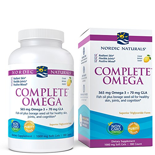 Nordic Naturals - Complete Omega, Supports Healthy Skin, Joints, and Cognition, 180 Soft Gels, 1000 mg by Nordic Naturals