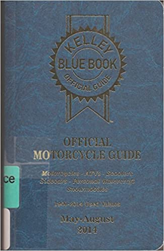 Kelly Blue Book Official Motorcycle Guide 1960 2014 Used Values