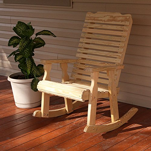 Amish Heavy Duty 600 Lb Classic Pressure Treated Rocking Chair (Unfinished)