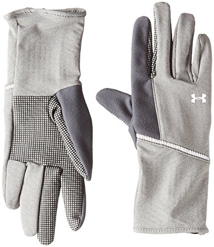 Under Armour Coldgear Liner Glove - Under Armour Women's ColdGear Infrared Liner Gloves, True Gray Heather (025)/Silver, Large