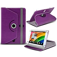 Acer Iconia A1-830 ( Purple ) Tablet Luxury 360° Rotating PU Leather Wallet Spring Stand Skin Case Cover by ONX3