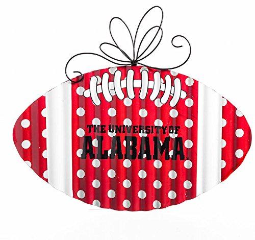 Team Sports America Alabama Crimson Tide Corrugated Metal Football Door Decor