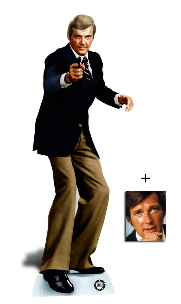 Fan Pack - Roger Moore Secret Agent Spy Lifesize Cardboard Cutout / Standee / Standup - Includes 8x10 (20x25cm) Photo BundleZ-4-FanZ Fan Packs