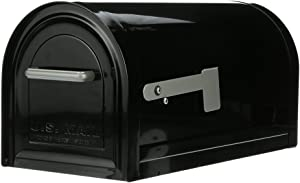 Gibraltar Mailboxes Reliant Large Capacity Galvanized Steel, Post-Mount Mailbox, MB981B01, Black