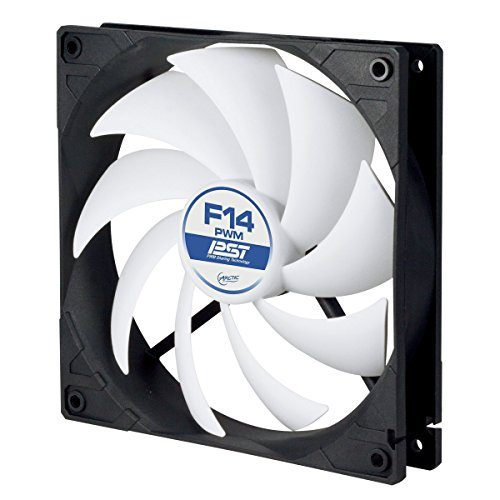 ARCTIC F14 PWM PST Value Pack - 140 mm PWM Case Fan, Case Fan with 4 Pins Plug, 140mm PWM Speed Control & Fluid Dynamic Bearing (Best Value Pc Case)