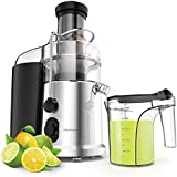 900W Wide Mouth Centrifugal Juicer - Elechomes 2 Speeds High Speed Juicer for Fruits and Vegetables with Premium Food Grade Titanium-Coated Cutter
