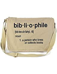 Dancing Participle Bibliophile Embroidered Putty Messenger Bag