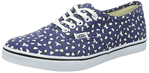 Vans U AUTHENTIC LO PRO VGYQ1W5 - Zapatillas de deporte de tela unisex, color negro, talla Fällt aus Normal (Herringbone Leopard) Twilight Blue
