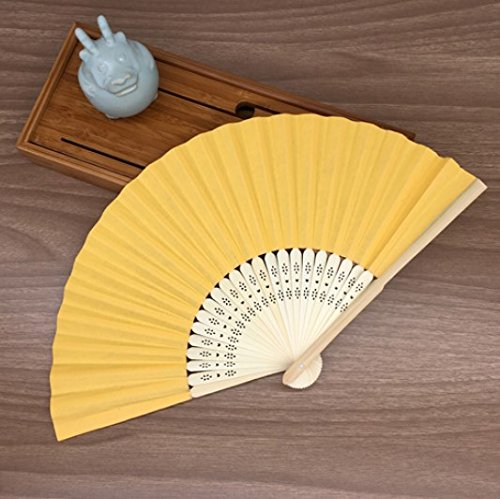 Light Orange Mulit Colors Paper Bamboo Folding Hand Fan Decoracion Fiestas Decoration Mariage Abanicos Para Boda by Hand Fan