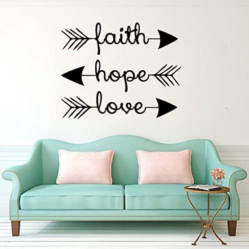 Wall Stickers Jesus Bible Love Family Quote Art Decals Vinyl Home Room Decor