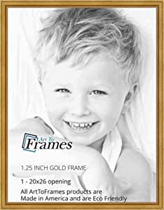 ArtToFrames 13x27 inch Gold Foil with Steps Wood Picture Frame 2WOMB-847-2186-13x27