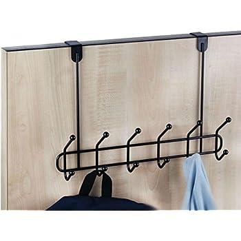 Neat-O Over The Door Hanger 12 Hook Organizer Holder Rack (Black)