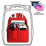 xhorizon SR Felt Backpack Organizer Insert, Handbag Organizer, Backpack Purse and Travel Backpack, Multi Pocket Bag in Bag Organizer for Tote & Handbag & Backpack Shaper, Multipocket Insert Bag