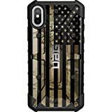 Limited Edition - Customized Designs by Ego Tactical Over a UAG Urban Armor Gear Case for Apple iPhone X/Xs (5.8')- Subdued US Flag Over Multicam/Scorpion Camo