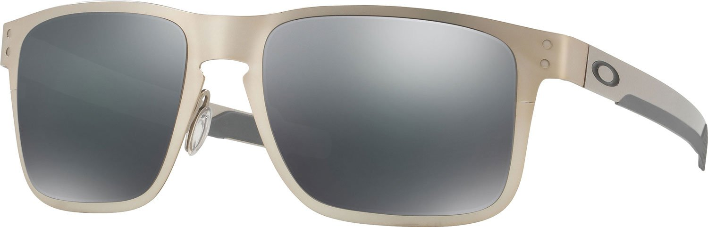 Oakley Holbrook Metal Square Sunglasses, Satin Chrome w/Black Iridium, 55 mm