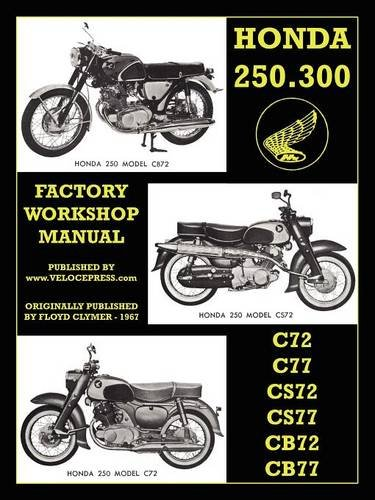 Honda Motorcycles Factory Workshop Manual 250-300 Twins 1960-1969