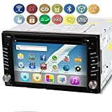 """OUKU Android 6.2"""" Double Din TFT Screen In-Dash 3G-Wifi Car GPS Navigation DVD Player BT Radio iPod-Input RDS Handsfree Bluetooth"""