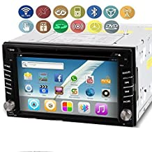 "OUKU Android 6.2"" Double Din TFT Screen In-Dash 3G-Wifi Car GPS Navigation DVD Player BT Radio iPod-Input RDS Handsfree Bluetooth"