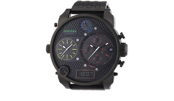 Diesel DZ7266 - Reloj cronógrafo de cuarzo para hombre con correa de acero inoxidable bañado, color negro: Diesel: Amazon.es: Relojes