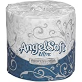 "Georgia-Pacific Angel Soft ps Ultra 16560 White 2-Ply Premium Embossed Bathroom Tissue, 4.05"" Length x 4.5"" Width (Case of 60 Rolls, 400 Sheets Per Roll)"