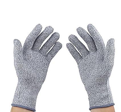 Resistente a los cortes guantes, nivel 5 protección, de calidad alimentaria, mediano (