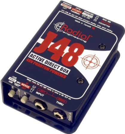 【 並行輸入品 】 Radial J48 MK2 48V Phantom Power Active Direct Box   B00JEFJGUM