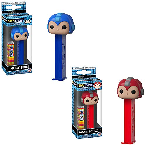 Funko POP! PEZ Candy Mega Man: Mega Man and Magnet Missile PEZ Candy and Dispenser Toy Action Figures - 2 Pack Bundle (Best Food Gifts From Dc)