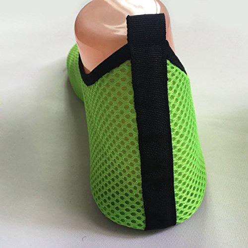 Panegy - Zapatos Aguamarina de Agua Deportes Unisex Suave para Hombre Mujer al aire libre para Buceo Yoga Surf Zapatiilas de Playa Antideslizantes Malla - Verde Azul Negro - Talla EU 36 -44 Verde