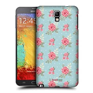 AIYAYA Samsung Case Designs English Flowers Nostalgic Rose Patterns Protective Snap-on Hard Back Case Cover for Samsung Galaxy Note 3 Neo N7505
