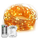 Tools & Hardware : Fairy Lights Battery Operated YIHONG 8 Modes String Lights 39FT Copper Wire 120 LED Starry Lights Firefly Lights Remote Control with Timer for Wedding Halloween Christmas Party Decor (Warm White)