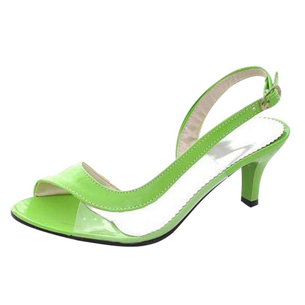 CHENYANG Femmes Peep Toe CHENYANG Pompes à à Fête Talons Hauts Chaussures de Mariage Fête Vert e75307e - piero.space