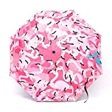 Cheap Farway Fold AnUV Rain Umbrella Flamingo Sunshade Parasol 3 Folds Rain Umbrella UV-Protection Sunscreen Windproof
