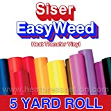 Siser Easyweed Burgundy 15'' x 5' Iron on Heat Transfer Vinyl Roll