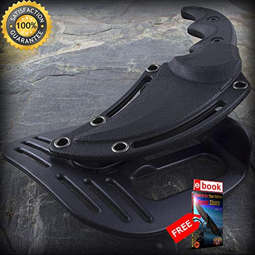 5'' MTECH USA KARAMBIT G10 BOOT SHARP KNIFE with PADDLE HOLSTER SHEATH CHAIN Combat Combat Tactical Knife + eBOOK by Moon Knives