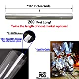 Clear Cellophane Wrap Roll   200' Ft. Long X