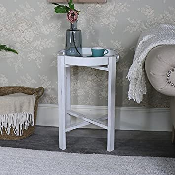 Outstanding Melody Maison Antique White Folding Tray Table Mia Range Home Interior And Landscaping Fragforummapetitesourisinfo