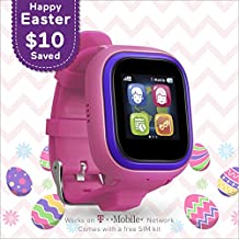 TickTalk 2.0 Touch Screen Kids Smart Watch, Easter Basket Stuffer, GPS Phone Watch, with New App, Top Rated Positioning Chip, Things To Do Reminder, Phone/Messaging (SIM CARD INCLUDED)(Pink)