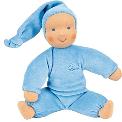 Kathe Kruse Schatzi Plush Doll, Light Blue